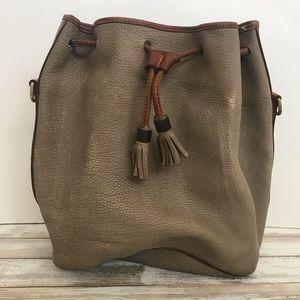 Dooney & Bourke Gray Drawstring Bucket Bag Repair